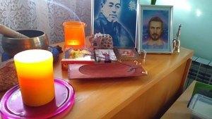 Reiki svijeća na kamidi